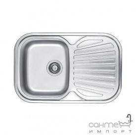 Кухонная мойка Fabiano 74х48 Нержавеющая Сталь/Сатин