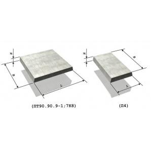 Плита тротуарна залізобетонна 0,5х0,5х0,04 м