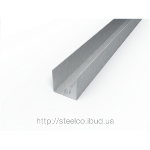Армуючий профіль для ПВХ конструкцій 25х31,5х23 мм