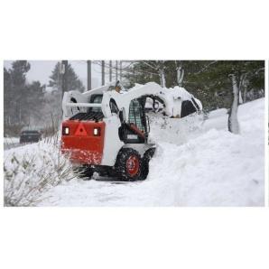 Прибирання снігу екскаватором-навантажувачем JCB 4CX