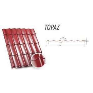 Металочерепиця Zartmet Тopaz 1190 мм грубий мат