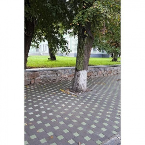 Тротуарная плитка UNIGRAN Квадрат стандарт серая 200х200х60 мм