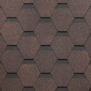Битумная черепица SHINGLAS ROOFMAST коричневый 3 к кв/уп