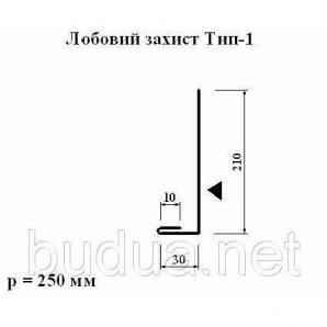 Лобовая защита тип 1 полиэстер матовый 0,5