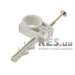 Обойма для труб и кабеля WAVE 13-14 мм с шурупом белая 100 шт