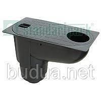 Дождеприемник PolyMax Basic 30.16 пластиковый с вертикальным отводом /серый/