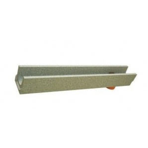 Лоток BetoMax Basic 10.14.13 бетонный с вертикальным отводом усиленный (с оцинкованными насадками)