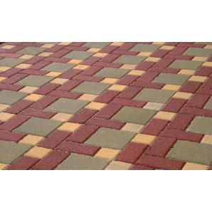 Тротуарная плитка Золотой Мандарин Кирпич Стандартный 200х100х60 мм красная