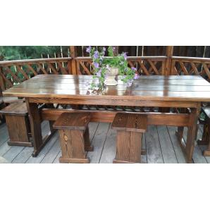 Комплект деревянной мебели для беседки