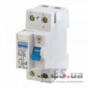Устройство защитного отключения ПЗВ-2001 2p 100A 100mA АскоУкрем