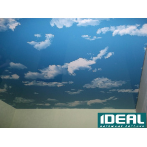 Устройство лакового натяжного потолка 180 см