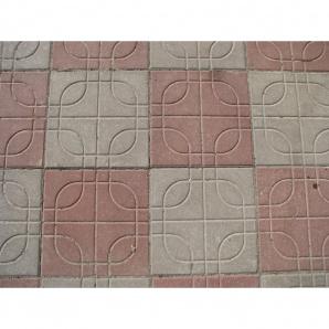 """Тротуарная плитка """"Вселенная"""" 400х400, Стандарт УМБР цветная на белом цементе 60мм"""