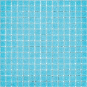 Мозаика стеклянная Stella di Mare R-MOS B33 327х327 мм голубая на сетке