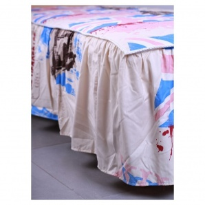 Покрывало AMF с юбкой в ткани англия 1,6 м беж