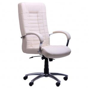 Кресло AMF Парис Хром Кожа Люкс комбинированная ваниль