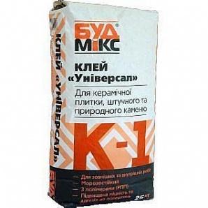 Клей универсальный БудМикс К-1 Универсал 25 кг