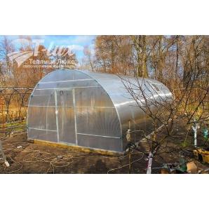 Теплиця збірна Люкс з оцинкованої труби з полікарбонатом Greenhouse 6 мм 4х6х2,5 м