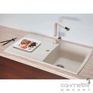 Гранітна кухонна мийка Schock Cristadur Lotus D100 оборотна 88 stone