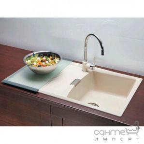 Гранітна кухонна мийка Schock Cristalite Venus D100 оборотна 14 crema