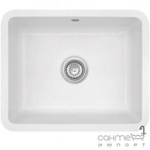 Керамічна кухонна мийка SystemCeram Zeta 50 U Titan-78