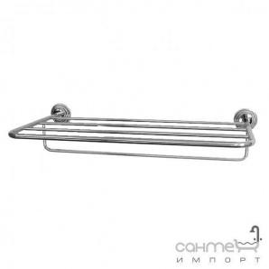 Поличка з тримачем для рушників настінна Pacini & Saccardi Accessori Doccia 30151/C хром