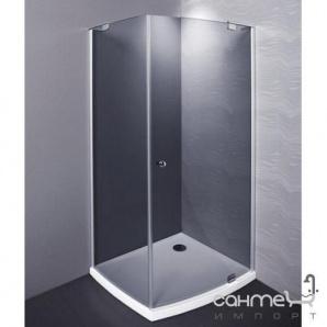 Розпашні душові двері+низький душовий піддон Balteco Vibe правосторонній, прозоре скло