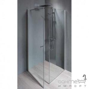 Розпашні душові двері Balteco FORM PSS1_80 прозоре скло, профіль сатин