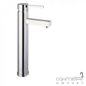 Високий змішувач для раковини з донним клапаном латунь pop-up Clever Platinum Skorpio ™ 96888 Хром