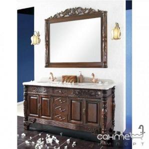 Комплект меблів для ванної кімнати Godi US-08A TB (рудо-коричневий)