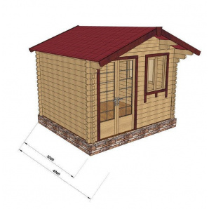 Будівництво будинку з профільованого бруса 3х3 м