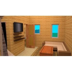 Лазня дерев'яна 9х5 м