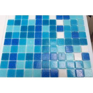 Мозаїка, скляна, Stella di Mare R-MOS B1131323335 мікс блакитний-5 на сітці 327x327x4 мм
