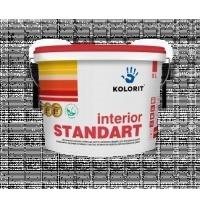 Краска интерьерная Kolorit Interior Standart А 9 л глубокоматовая