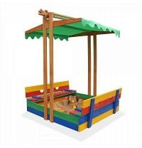 Пісочниця дерев'яна кольорова SportBaby 10