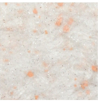 Жидкие обои Qстандарт Гортензия 211 белый шелк белый с нежно-оранжевыми хлопьями 1 кг