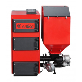 Твердотопливный котел с автоматической подачей топлива Amica Green Eko 50 50 кВт 1325х1470х1030 мм