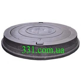 Люк важкий каналізаційний полімерпіщаний Імпекс-Груп С250 БВ з замком 25 т чорний (79200)