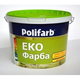Краска Polifarb ЭКОФАРБА 1,4 кг белая