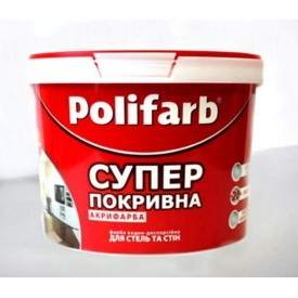 Краска ТМ Polifarb АКРИФАРБА 4,2 кг белая