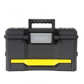 """Ящик для инструмента Stanley пластиковый, 19"""" (481х279х287мм), с выдвижной секцией. 1-70-316"""