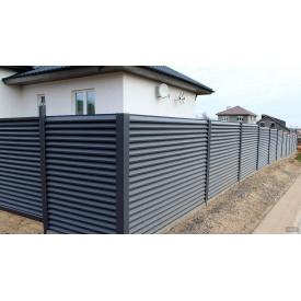 Жалюзи забор из металлических ламелей