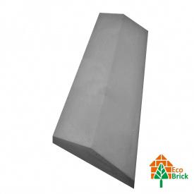 Конек для забора бетонный 180х500 мм серый