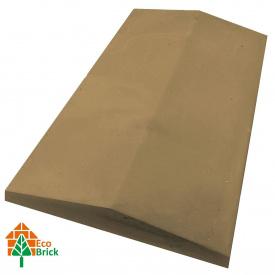 Конек для забора бетонный 400х700 мм желтый