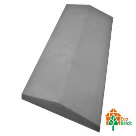 Конек для забора бетонный 285х680 мм серый