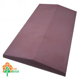 Коник для забору бетонний 1000х450 мм червоний