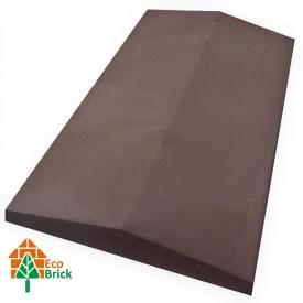 Конек для забора бетонный 1000х450 мм коричневый