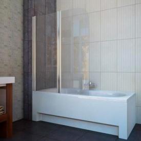 Шторка на ванну двухэлементная 1150x1400 (QP95(left) chrome clear)