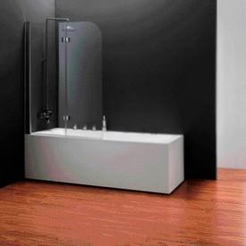 Шторка на ванну двоелементна 1150x1400 (QP97(left) chrome clear)