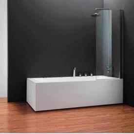 Шторка на ванну одноэлементная 750х1400 (QP93(right) chrome clear)