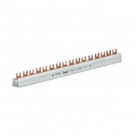 Шина соединительная вилочная HAGER 3p на 57 модулей 10 мм2 с изоляцией (KDN363B)